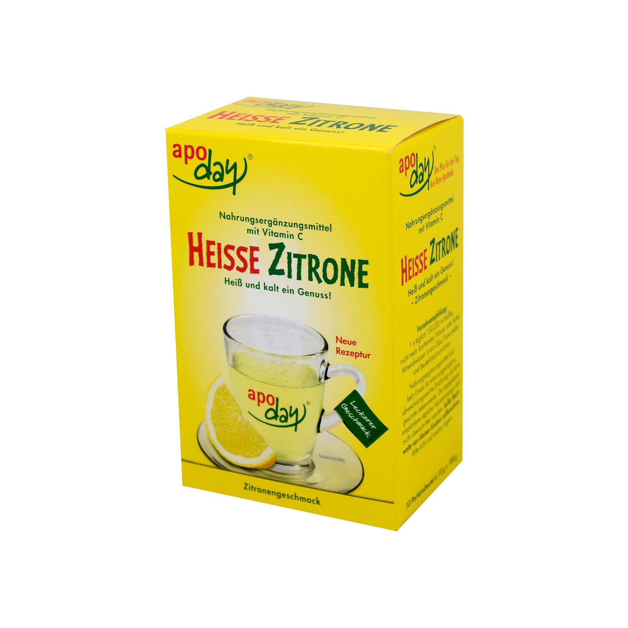 Apoday Heiße Zitrone Vitamin C Pulver , 10X10 g