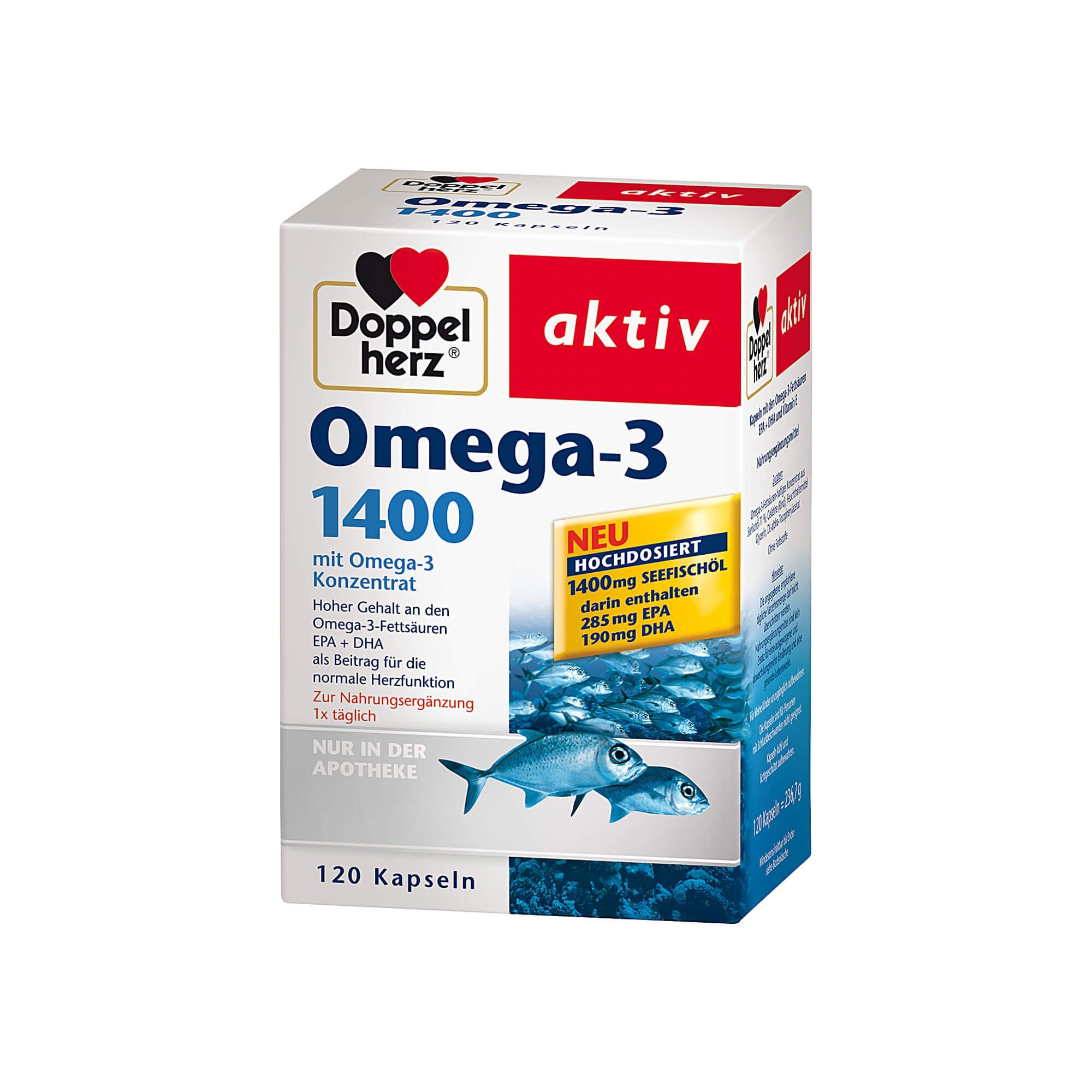 Doppelherz Omega-3 1.400 Kapseln (, 120 St)