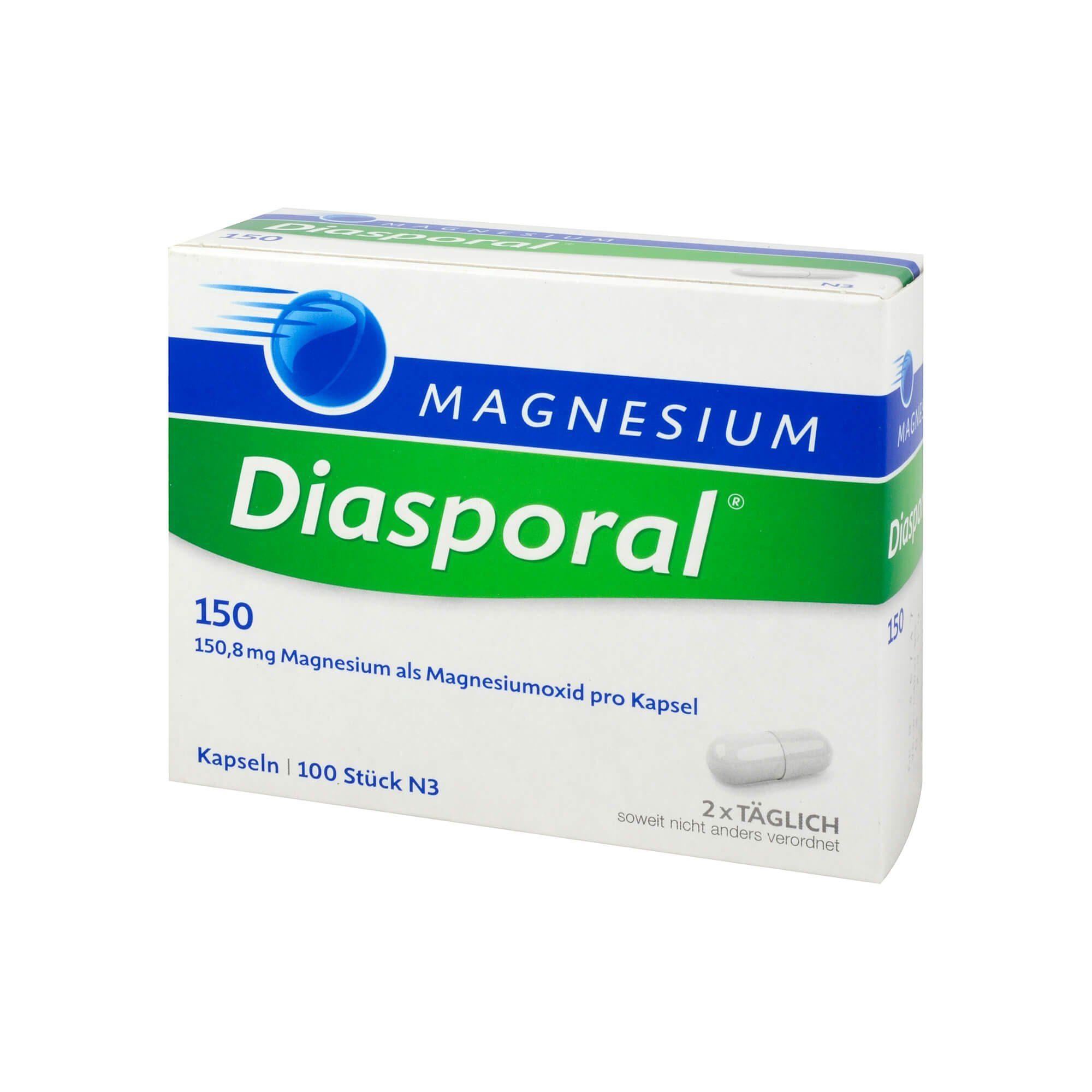 Magnesium DIASPORAL 150 Kapseln , 100 St