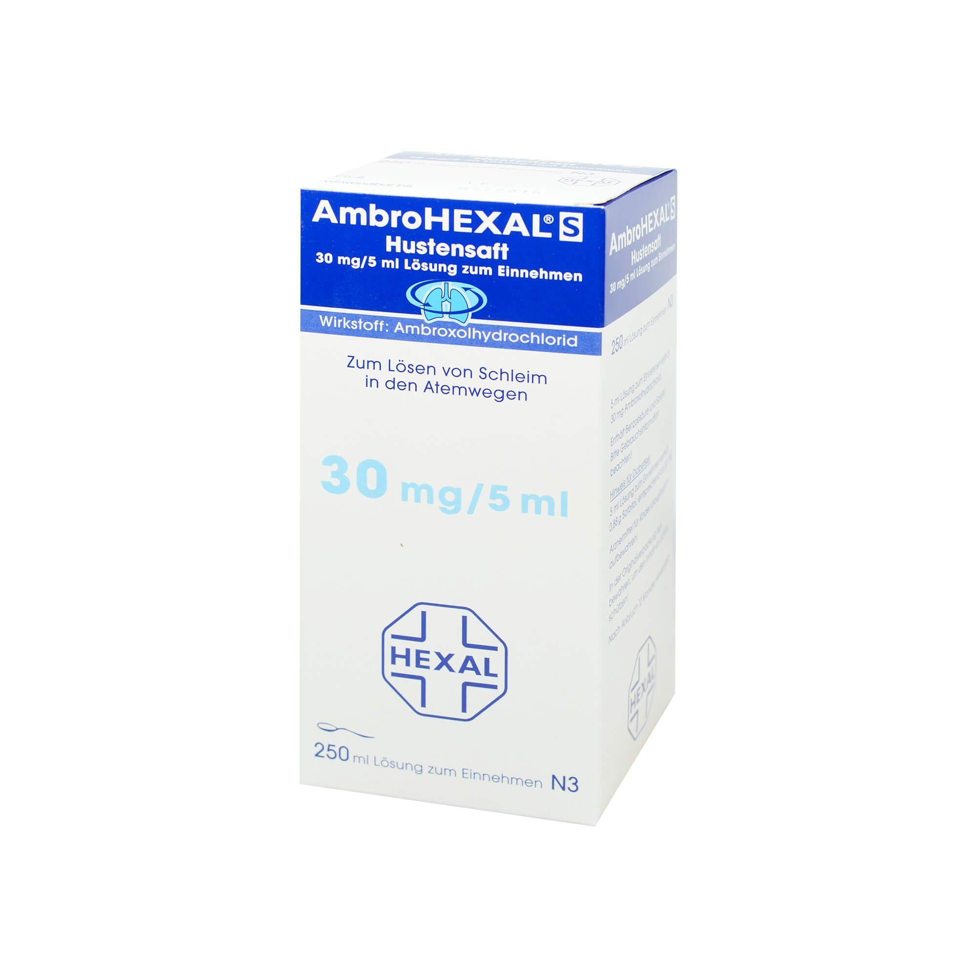 Hexal AmbroHEXAL S Hustensaft 30 mg/5 ml , 250 ml