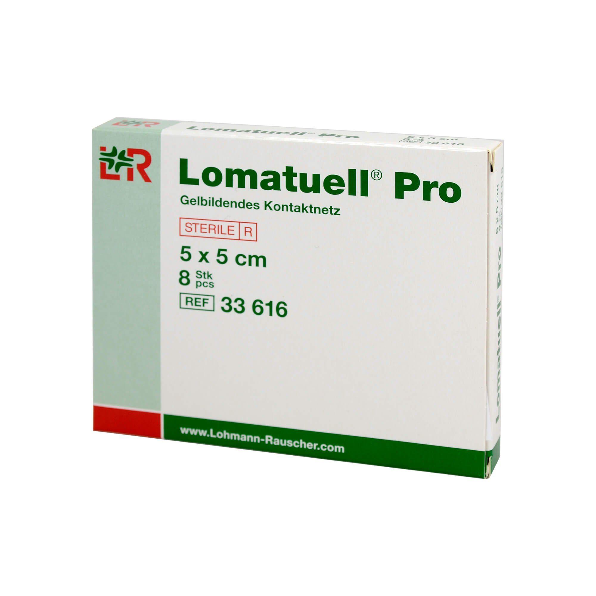 Lomatuell Pro Gelbildendes Kontaktnetz 5 cm x 5 cm, 8 St