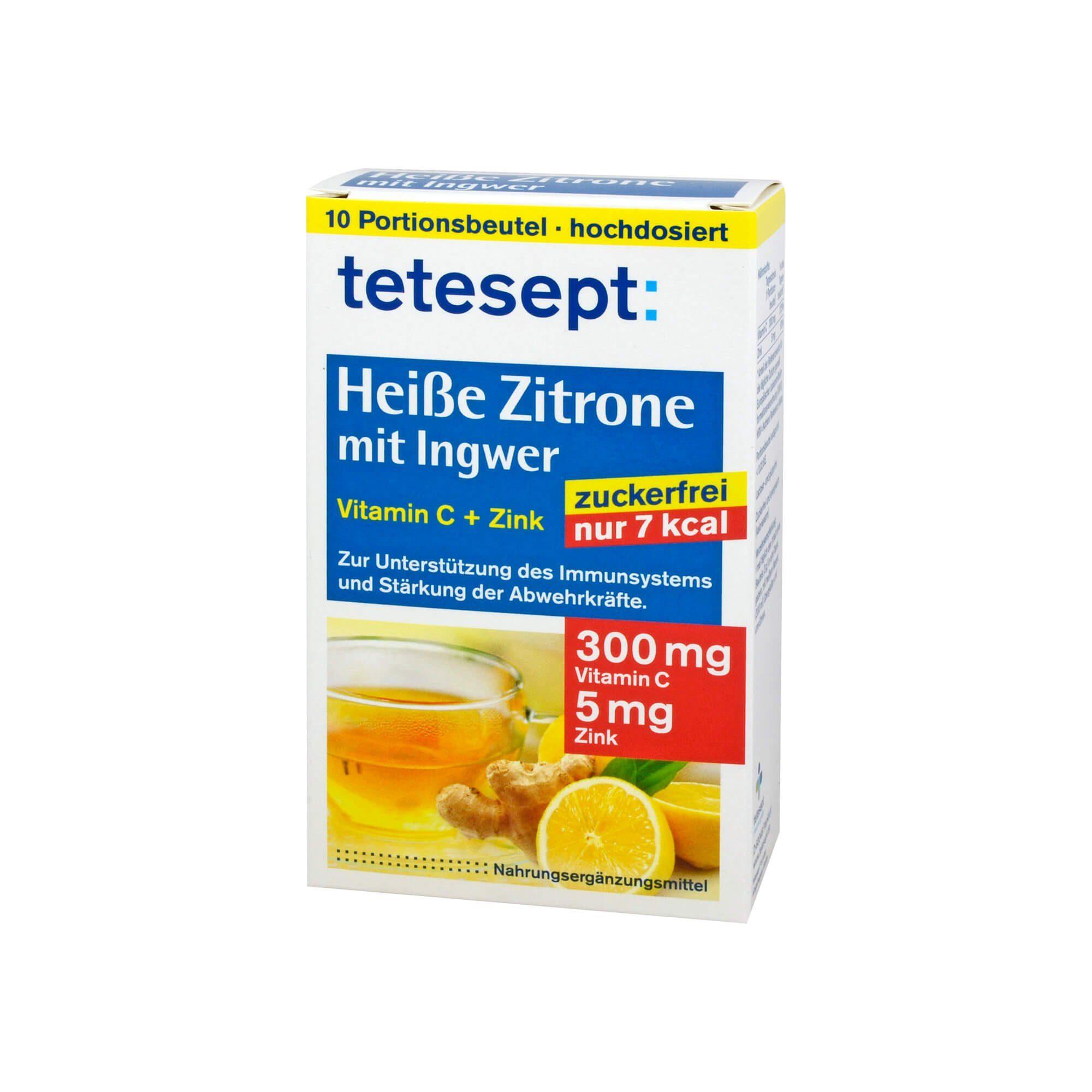 Tetesept Heiße Zitrone mit Ingwer, 10X3 g