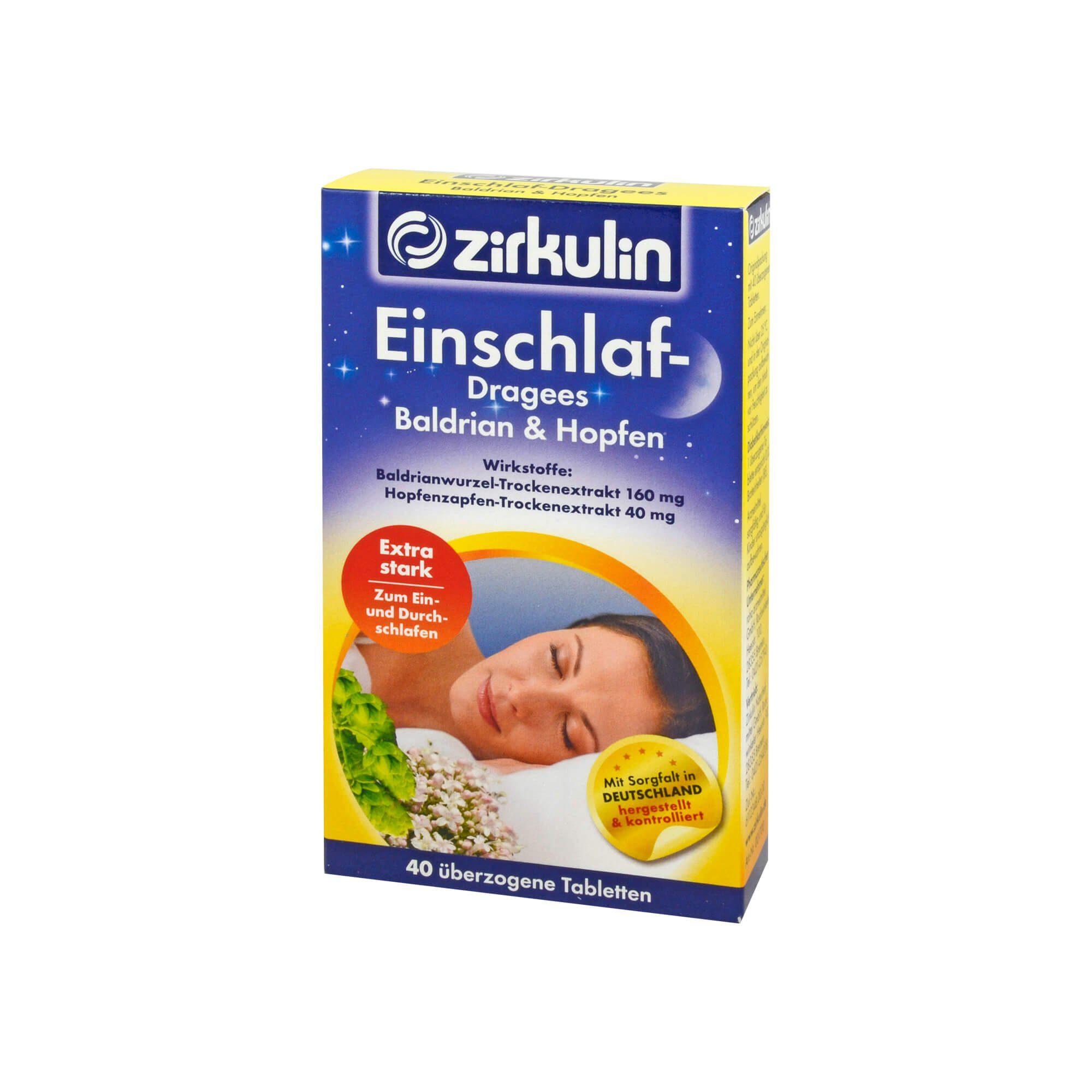 Zirkulin Einschlaf-Dragees Baldrian & Hopfen, 40 St
