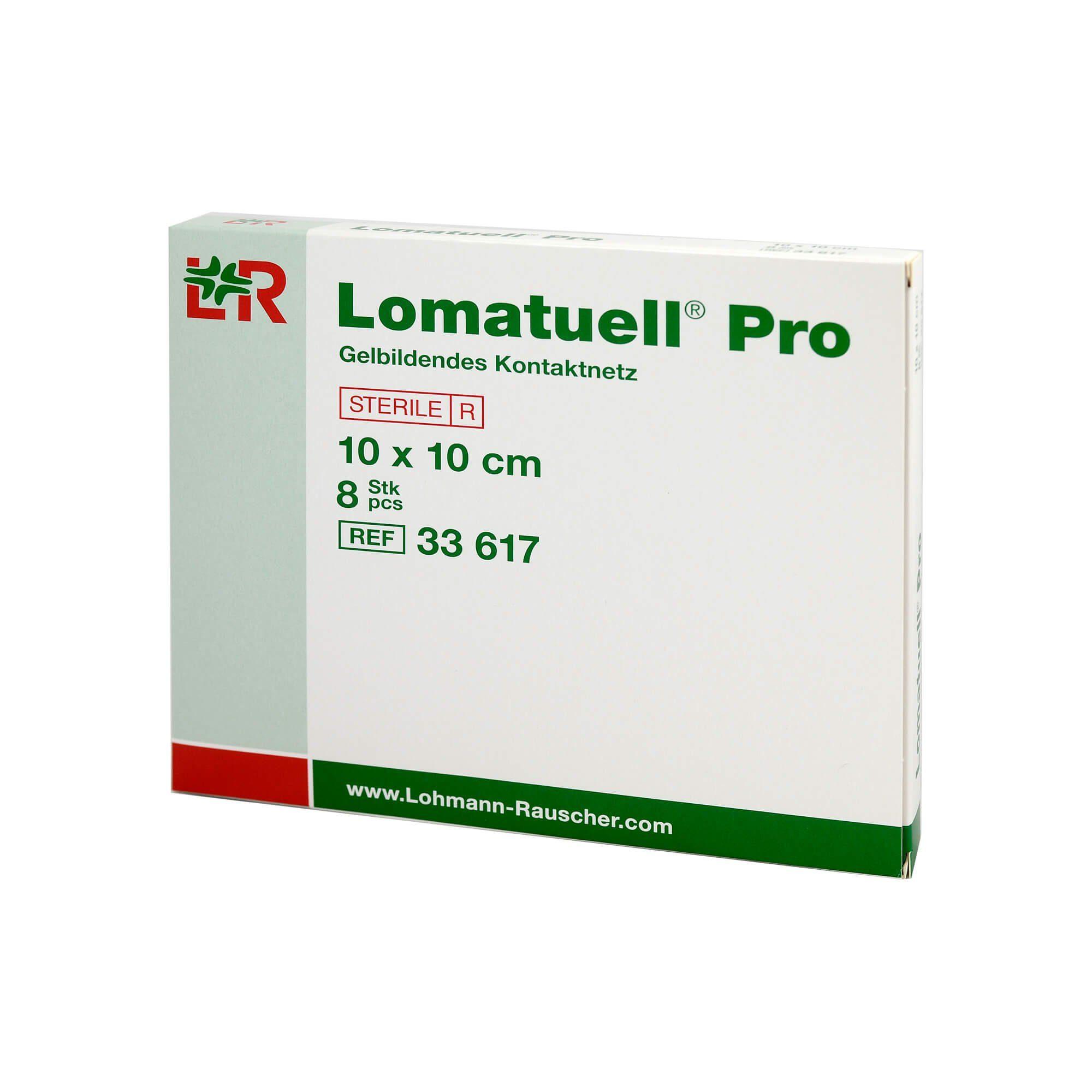 Lomatuell Pro Gelbildendes Kontaktnetz 10 cm x 10 cm, 8 St