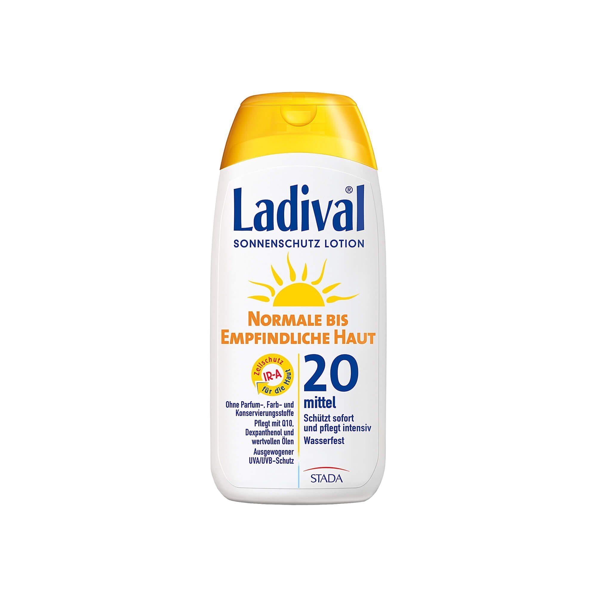 Ladival Normale bis Empfindliche Haut Lotion LSF 20 , 200 ml