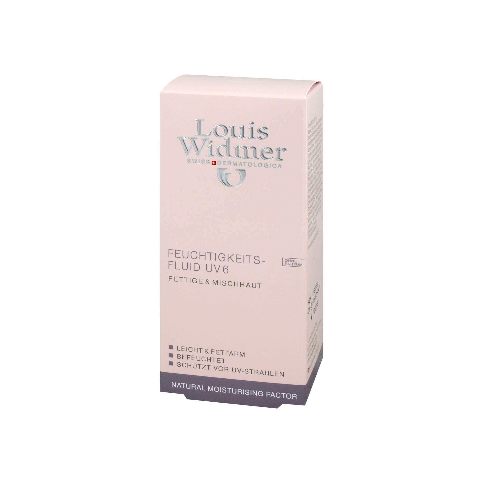 Widmer Feuchtigkeitsfluid UV6 unparfümiert , 50 ml