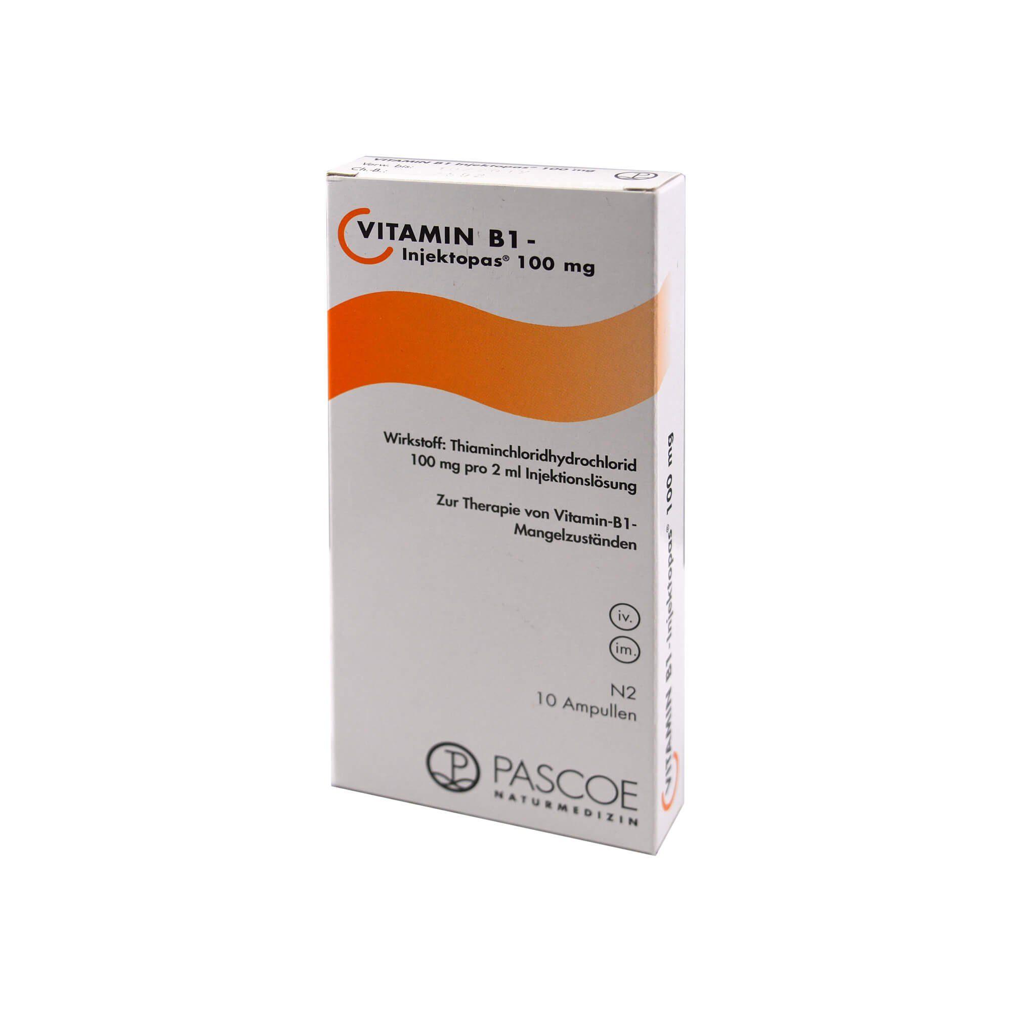 Vitamin B1 Injektopas 100 Mg Injektionslösung , 10X2 ml