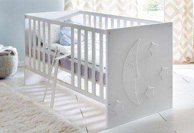 Kinderbett passend zur babym bel serie basel in wei for Kinderbett bei otto