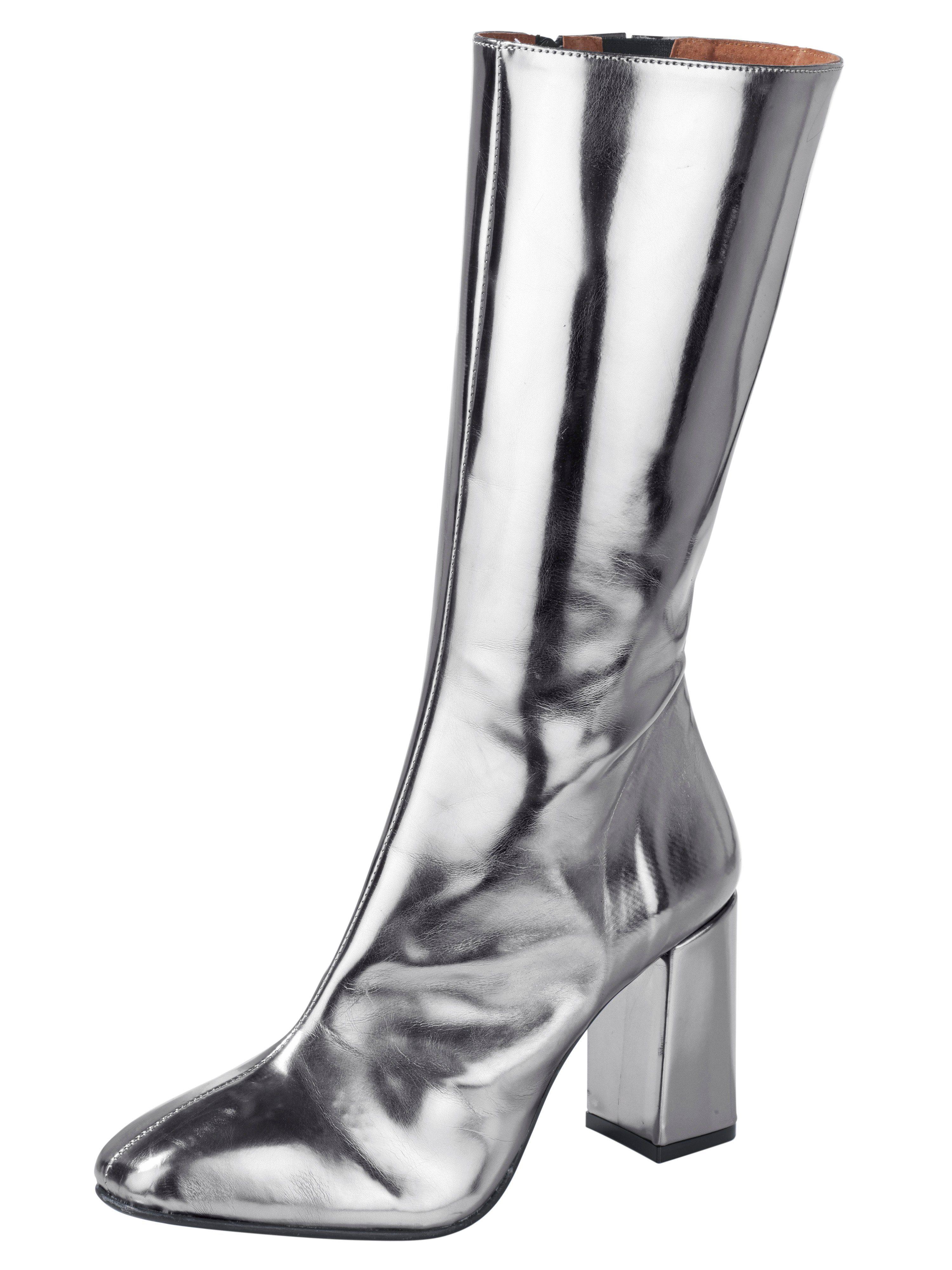 Heine Stiefel im Metallic-Look online kaufen  silberfarben