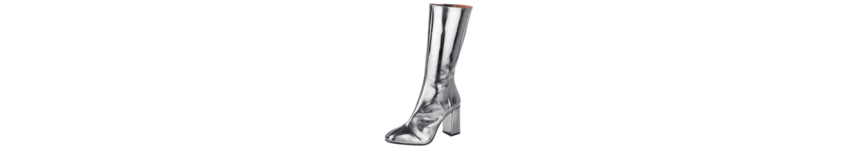 Heine Stiefel im Metallic-Look