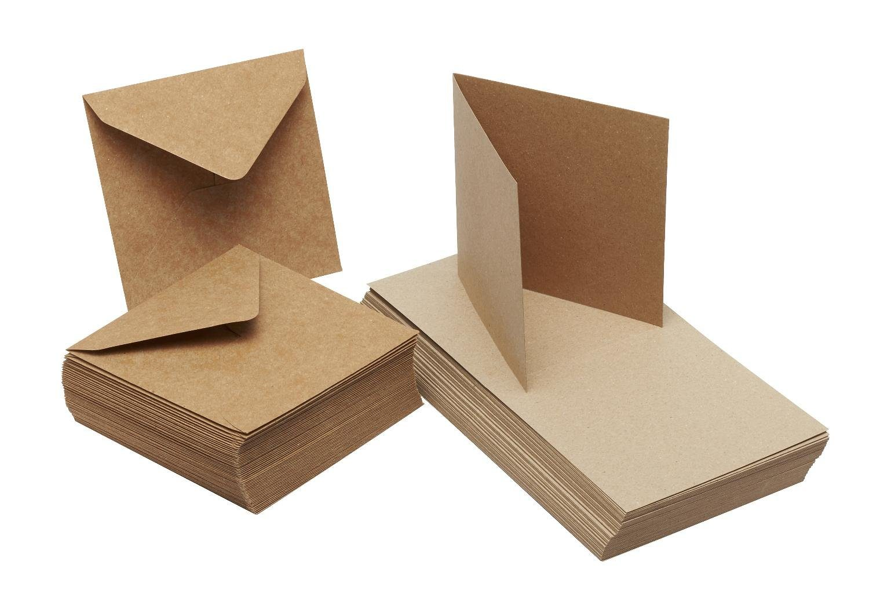 """Doppelkarten """"Kraftpapier"""", 12,5 x 12,5 cm"""