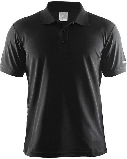 Herren Craft T-Shirt Classic Polo Pique Shirt Men schwarz | 07318571205155