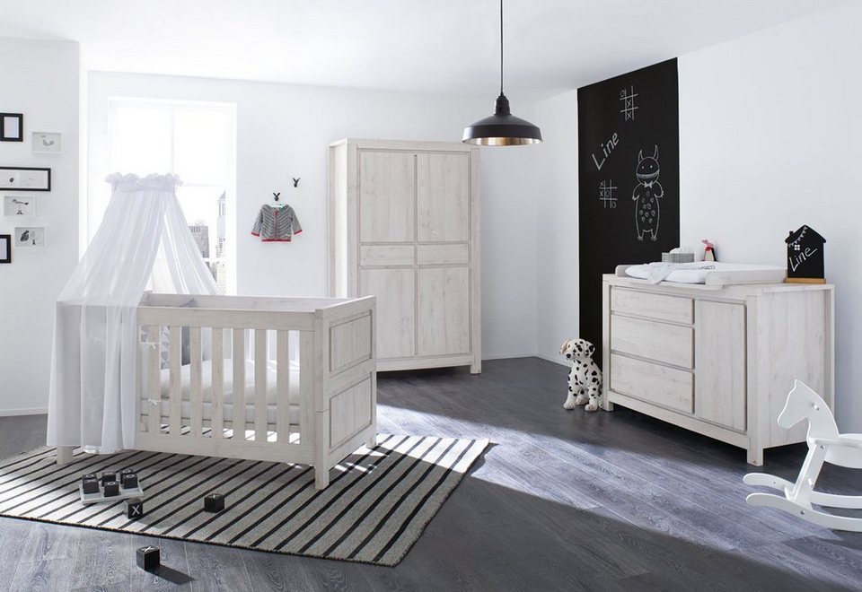 pinolino babyzimmer set 3 tlg kinderzimmer line extrabreit online kaufen otto. Black Bedroom Furniture Sets. Home Design Ideas