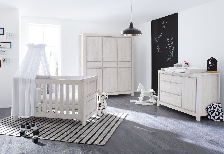 pinolino babyzimmer set (3-tlg) kinderzimmer »line« extrabreit