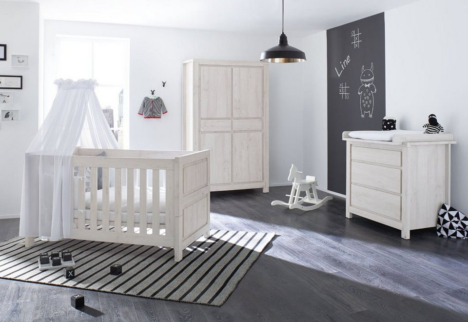 pinolino babyzimmer set 3 tlg kinderzimmer line breit online kaufen otto. Black Bedroom Furniture Sets. Home Design Ideas