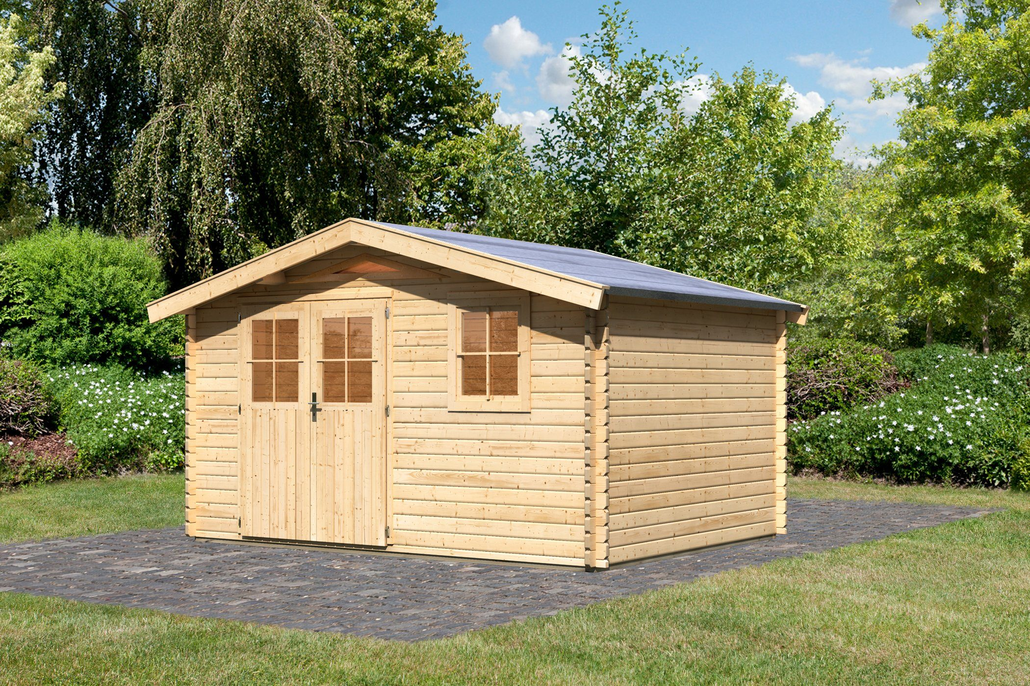 Karibu Set: Gartenhaus »Köpenick 5«, BxT: 372x282 cm