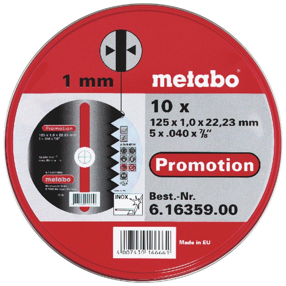 METABO Trennscheiben »SP 125«, 10 Stk.
