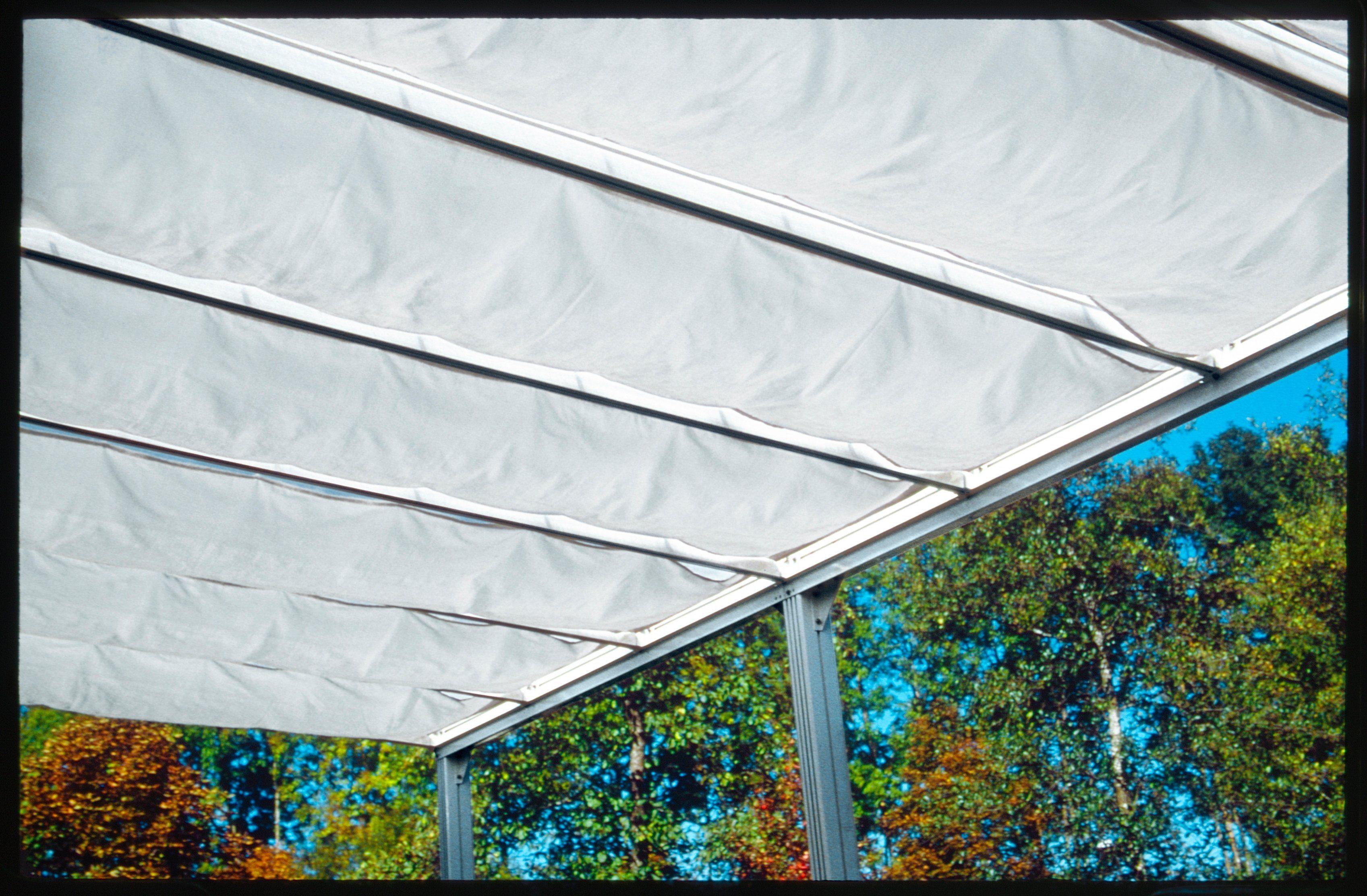 BECKMANN Sonnendach »Trend Gr. 2«, 5 Stk. á 54x300 cm, weiß/anthrazit