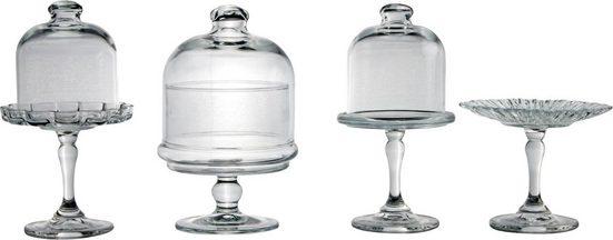 CreaTable Servierteller, Glas, 4-teilig