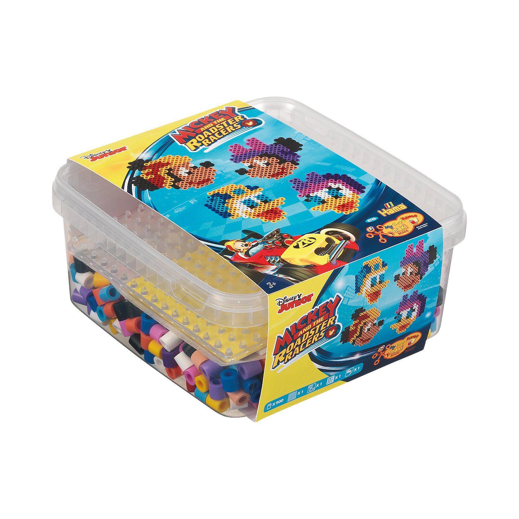 Hama Perlen HAMA 8743 Box Mickey und die flinken Flitzer, 900 maxi-Perle