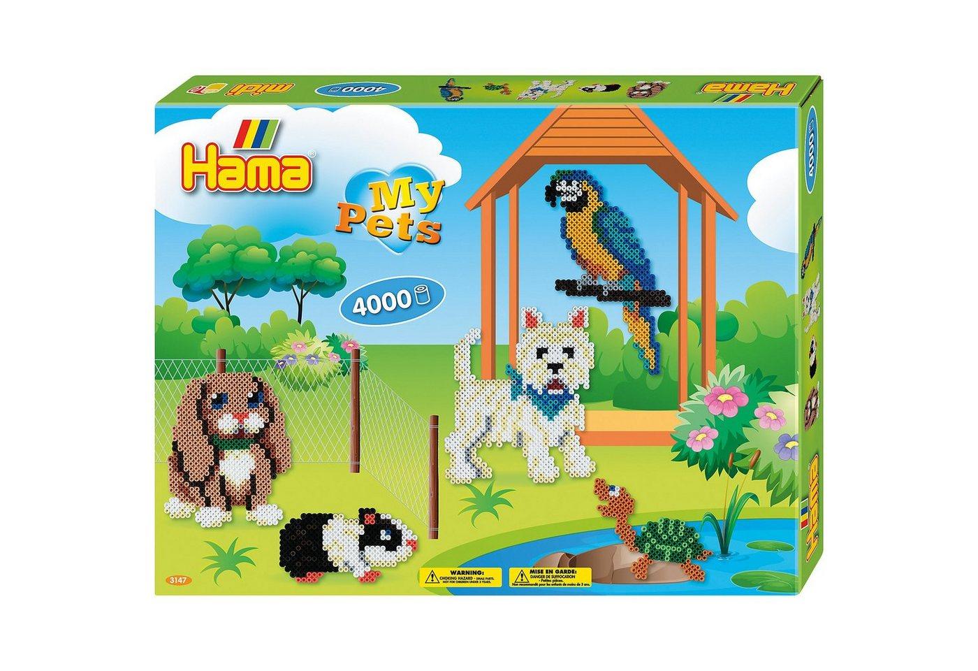 Hama Perlen HAMA 3147 Geschenkset Haustiere, 4.000 midi-Perlen  und  Zubehör - Preisvergleich