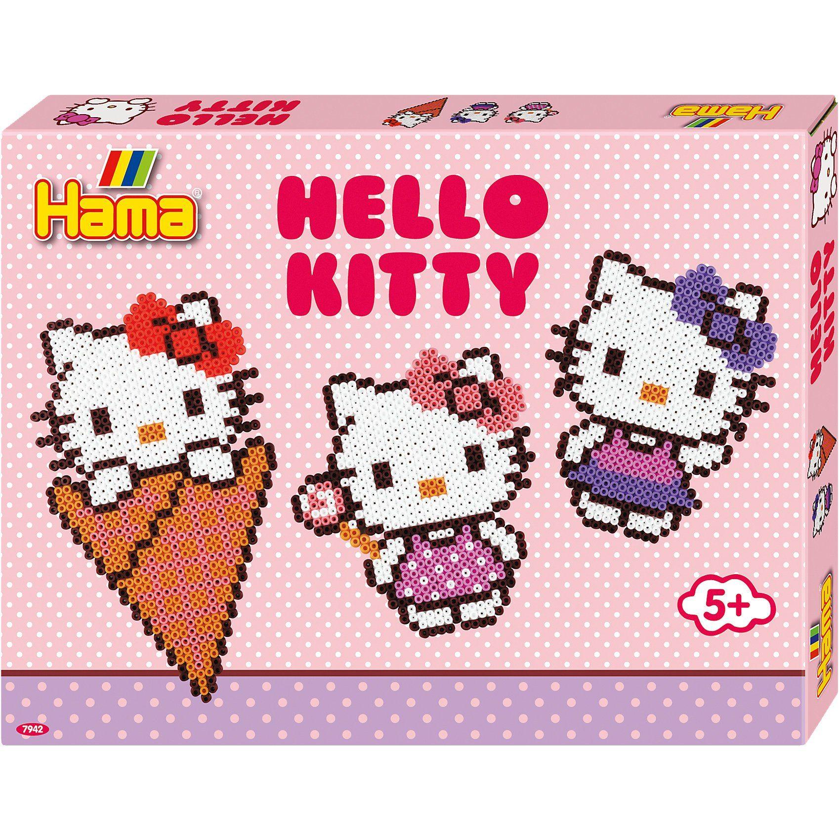 Hama Perlen HAMA 7942 Geschenkset Helly Kitty, 4.000 midi-Perlen & Zubeh