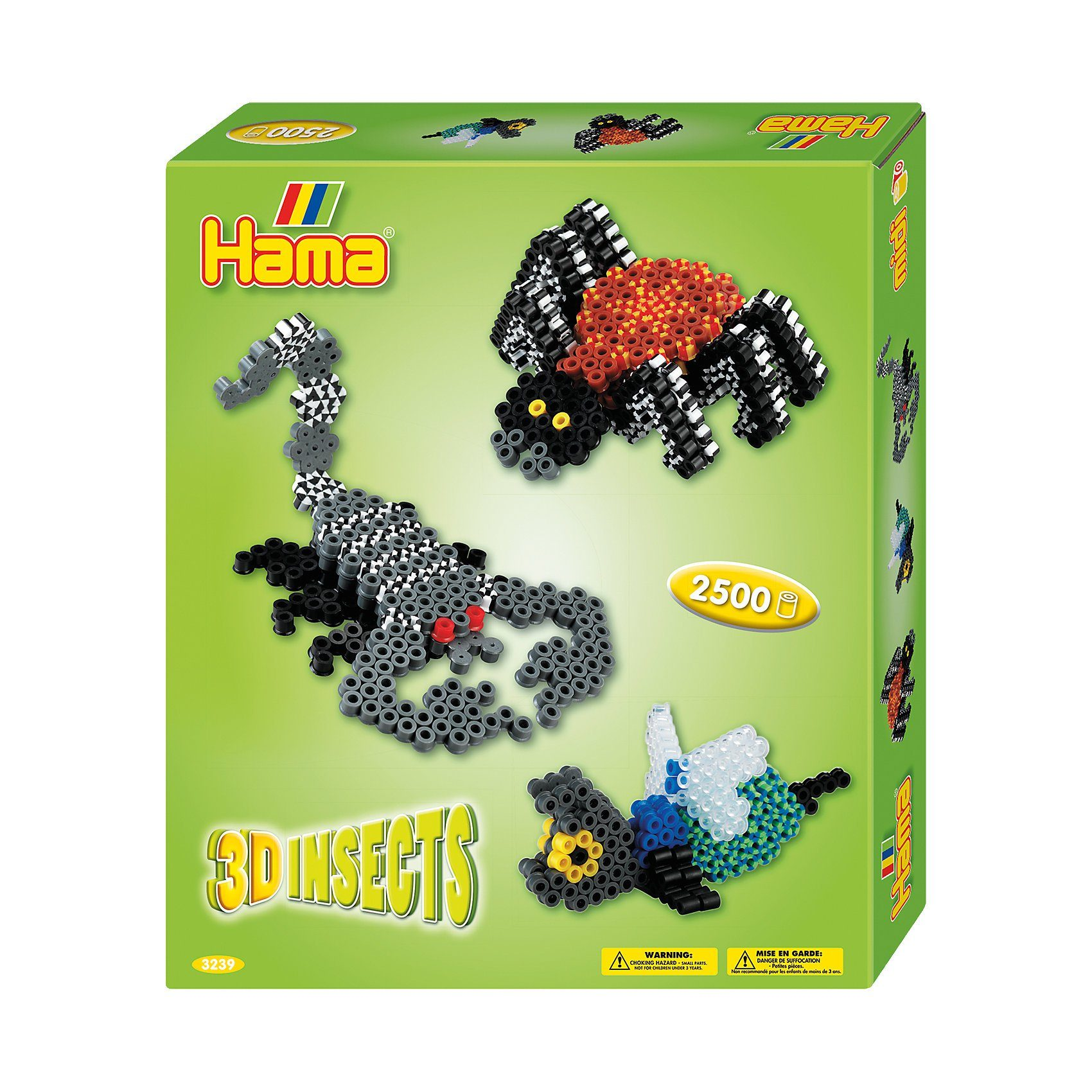 Hama Perlen HAMA 3239 Geschenkset 3D-Insekten, 2.500 midi-Perlen & Zubeh