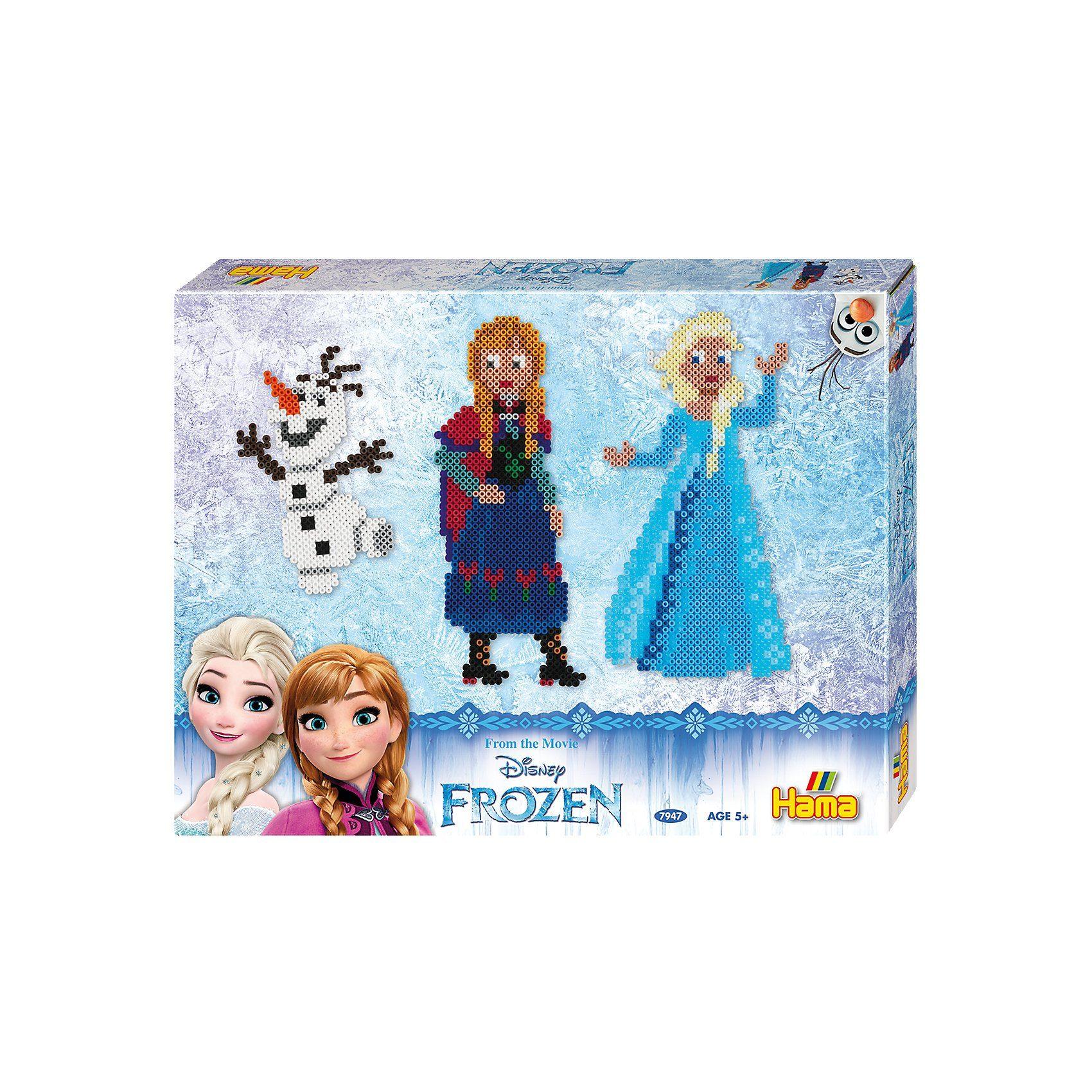 Hama Perlen HAMA 7947 Geschenkset Die Eiskönigin, 4.000 midi-Perlen & Zu