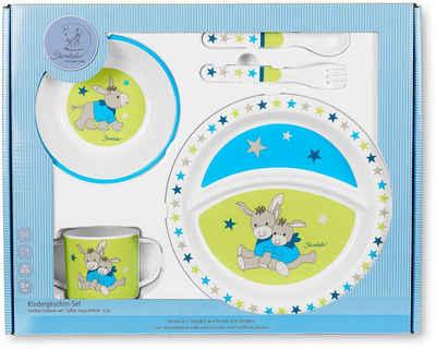 Sterntaler® Kindergeschirr-Set »Erik« (5-tlg), Polypropylen, mit Löffel und Gabel