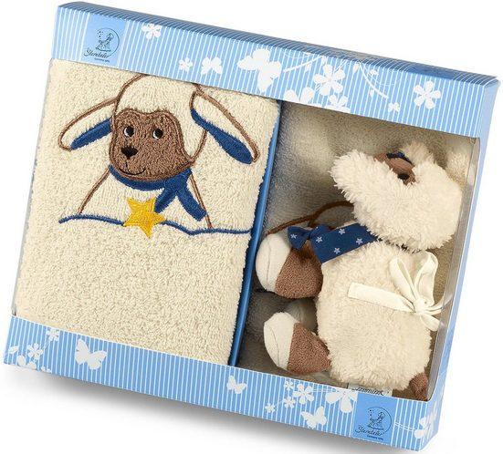 Sterntaler® Spieluhr »Stanley«, (3-tlg), mit Handtuch und Waschhandschuh