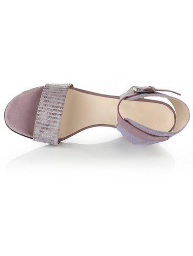 Sandale Alba Moda Avec Talon Compensé