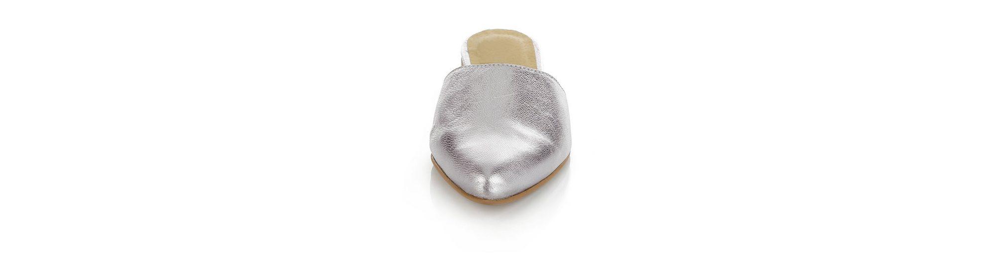 Alba Moda Sabot in Metallic-Optik mit Spitz zulaufende Zehenkappe Günstig Kaufen Visum Zahlung Erschwinglich Für Billig Zu Verkaufen Günstiger Preis Großhandel Auslasszwischenraum TWFHfw