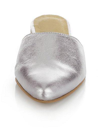Alba Moda Sabot In Metallic Optics With Pointed Toe Cap