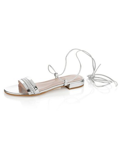 Alba Moda Sandalette in Metallic-Optik als perfekter Bade-Begleiter