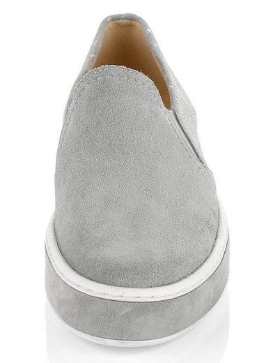 Alba Moda Slipper aus hochwertigem Veloursleder