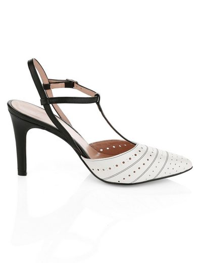 Alba Moda Sling-Pumps in spitzer Form