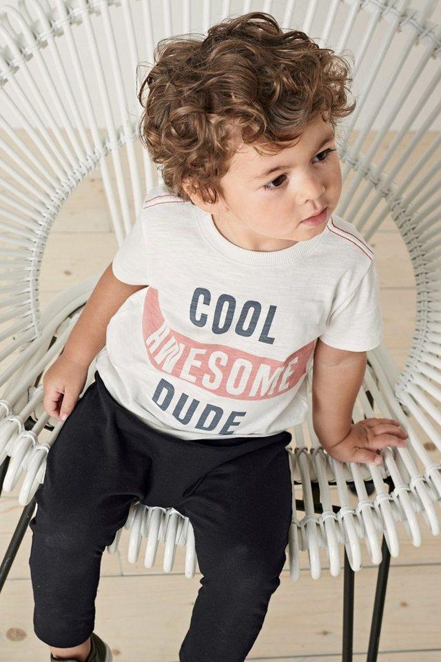 next t shirt mit schriftzug und sporthose im set 2 teilig. Black Bedroom Furniture Sets. Home Design Ideas