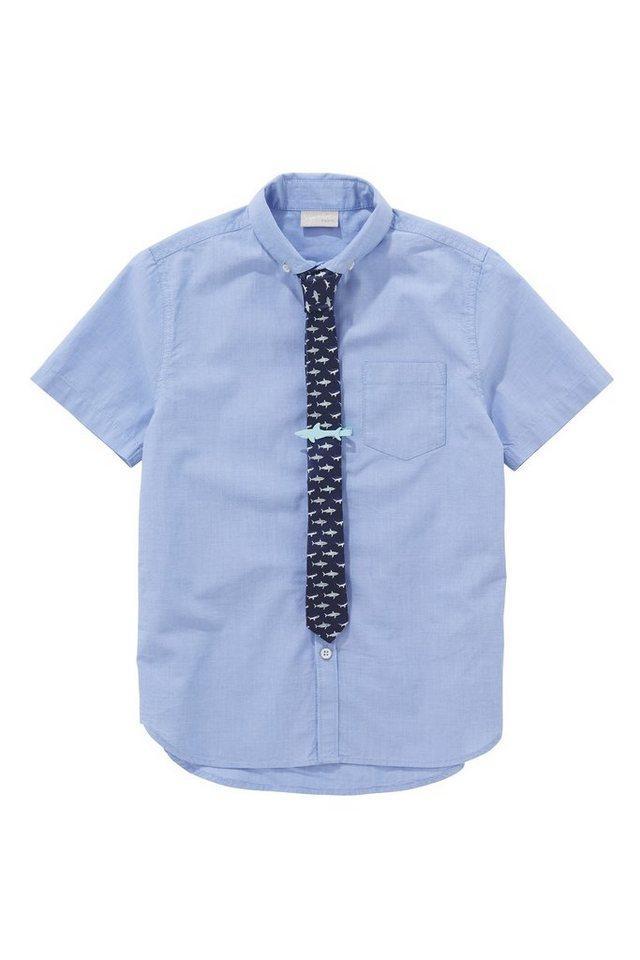 next kurz rmliges hemd und krawatte im set 2 teilig online kaufen otto. Black Bedroom Furniture Sets. Home Design Ideas