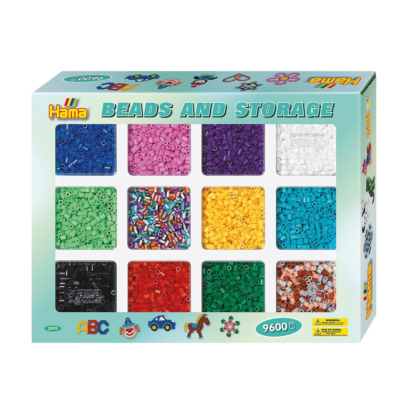 Hama Perlen HAMA 2095 Sortierbox mit 9.600 Perlen