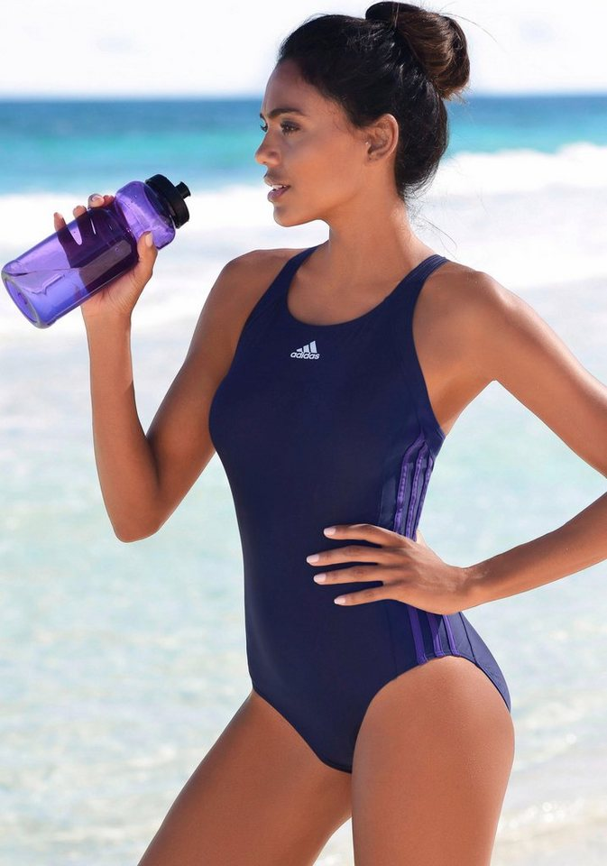 Bademode - adidas Performance Badeanzug, mit seitlichen Streifen › blau  - Onlineshop OTTO
