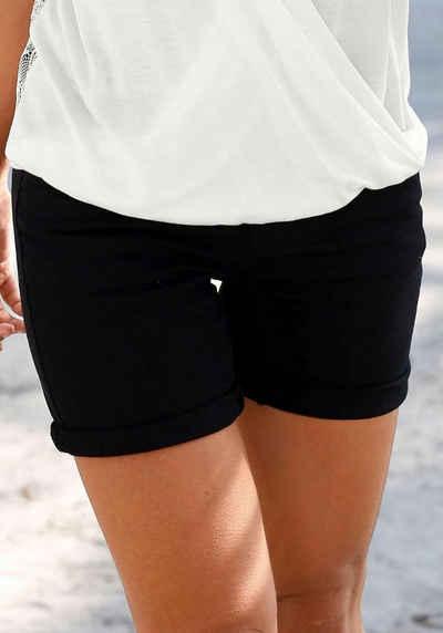 8df445f047732a s.Oliver Beachwear Strandshorts mit leichten Used-Effekten