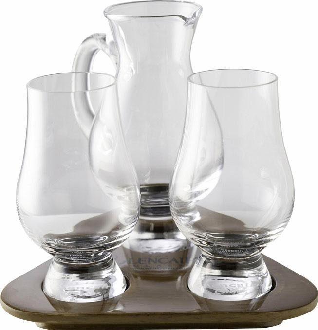 Stölzle Whiskygläser Probier-Set, »Glencairn Glass« (2 Whiskygläser mit Krug auf Tablett)