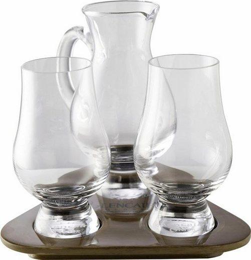 Stölzle Whiskyglas »Glencairn Glass« (3-tlg), 2 Gläser, 1 Krug auf Tablett