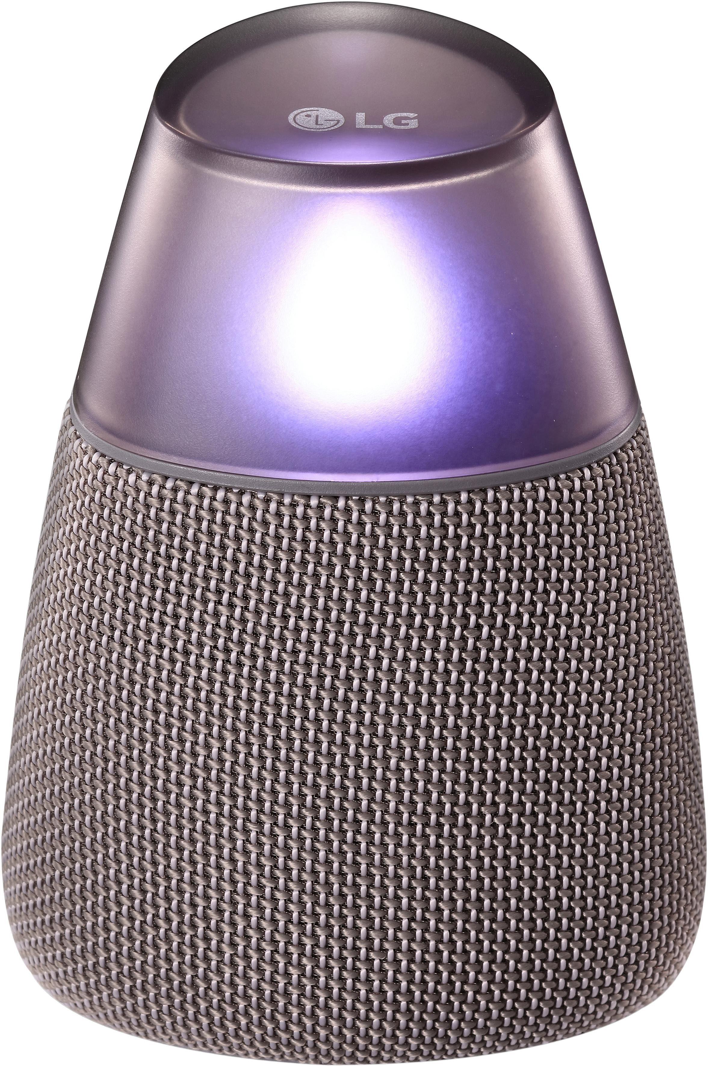 LG PH3G Portable-Lautsprecher (Bluetooth, 360 Grad Sound, Android und iPhone kompatibel via Bluetooth, Bass Boost Funktion, Mood Licht Funktion)