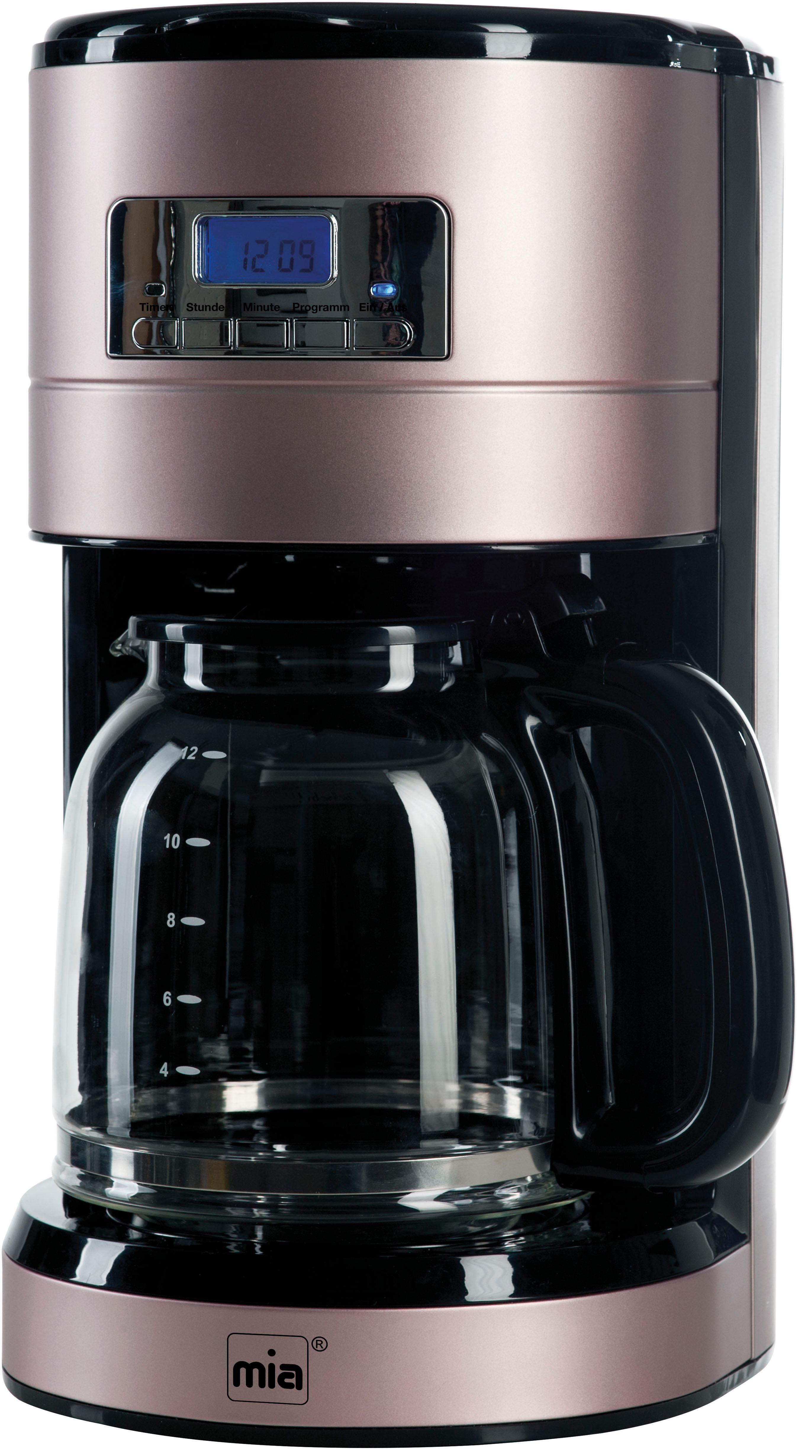 MIA Filterkaffeemaschine Prodomus Retro KF 1743RG, 1,8l Kaffeekanne, Permanentfilter 1x4, Anti-Rutsch-Füße