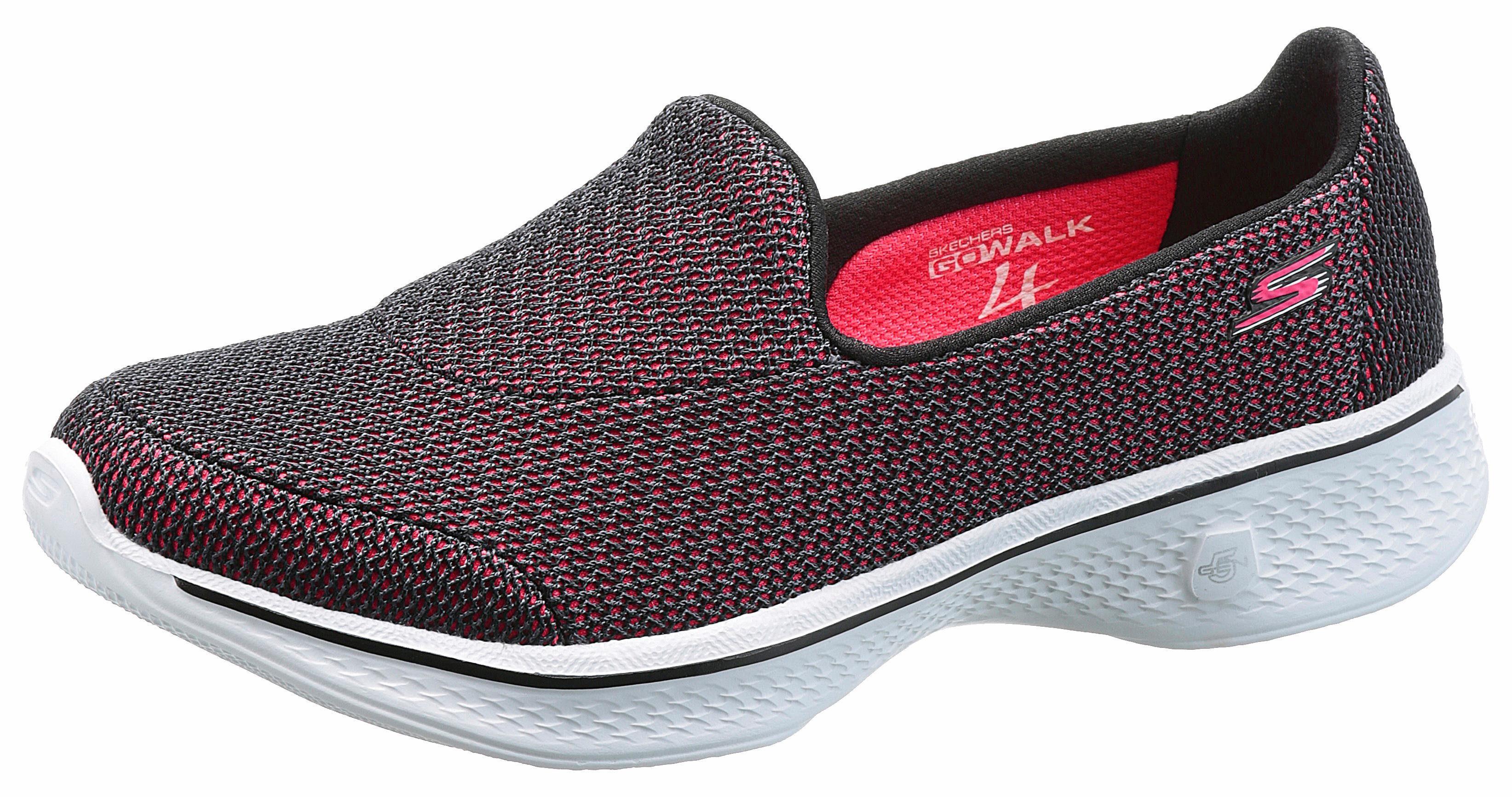 SKECHERS PERFORMANCE »Go Walk 4 Majestic« Sneaker, im sportlichen Design, schwarz, 40 40