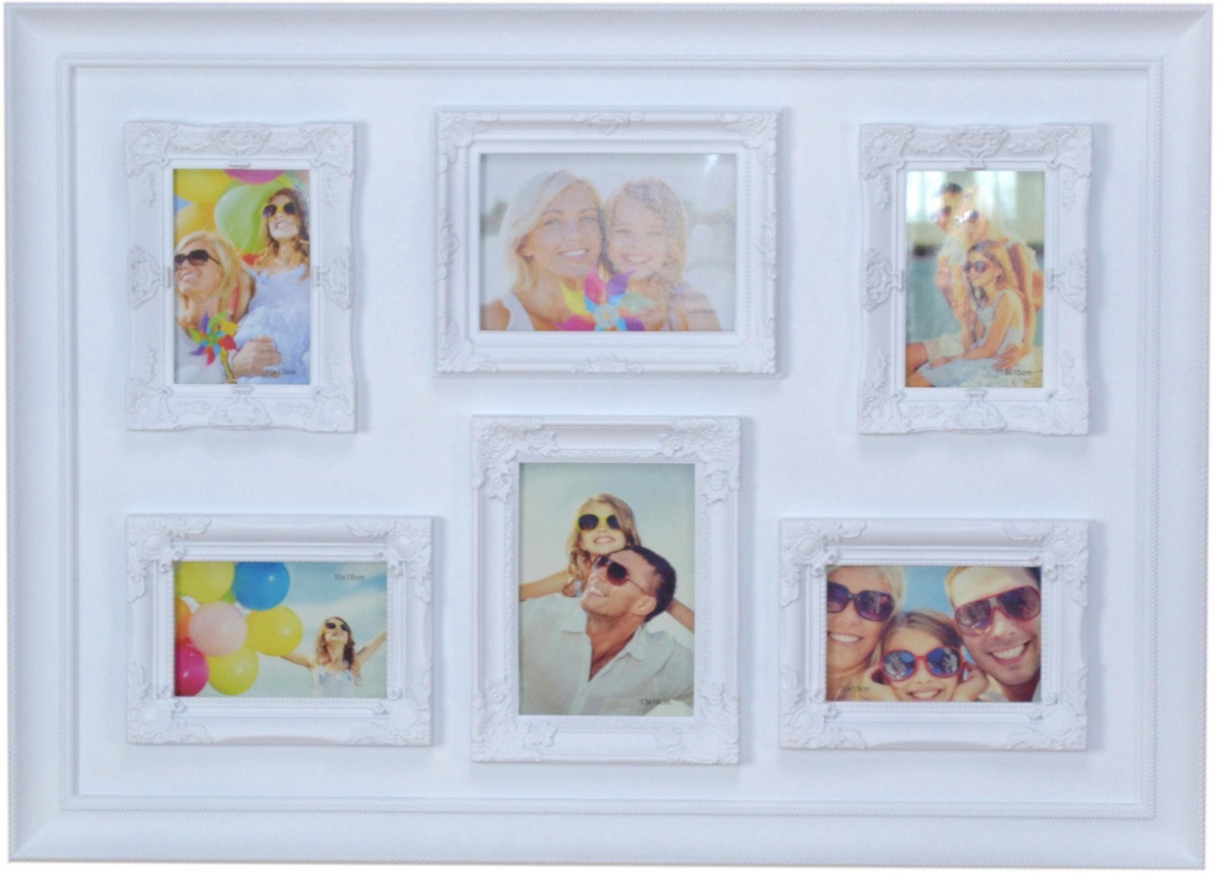 Home affaire Bilderrahmen, für 6 Bilder, mit Rahmenprofilierung für 6 Fotos