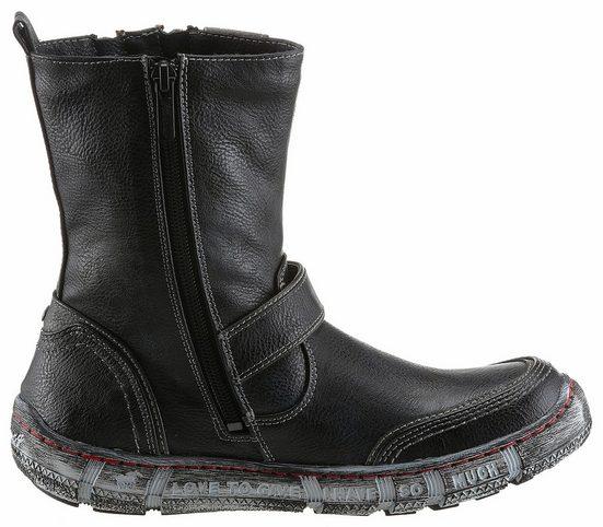 Mustang Shoes Winterstiefelette, mit Zierreißverschlüssen