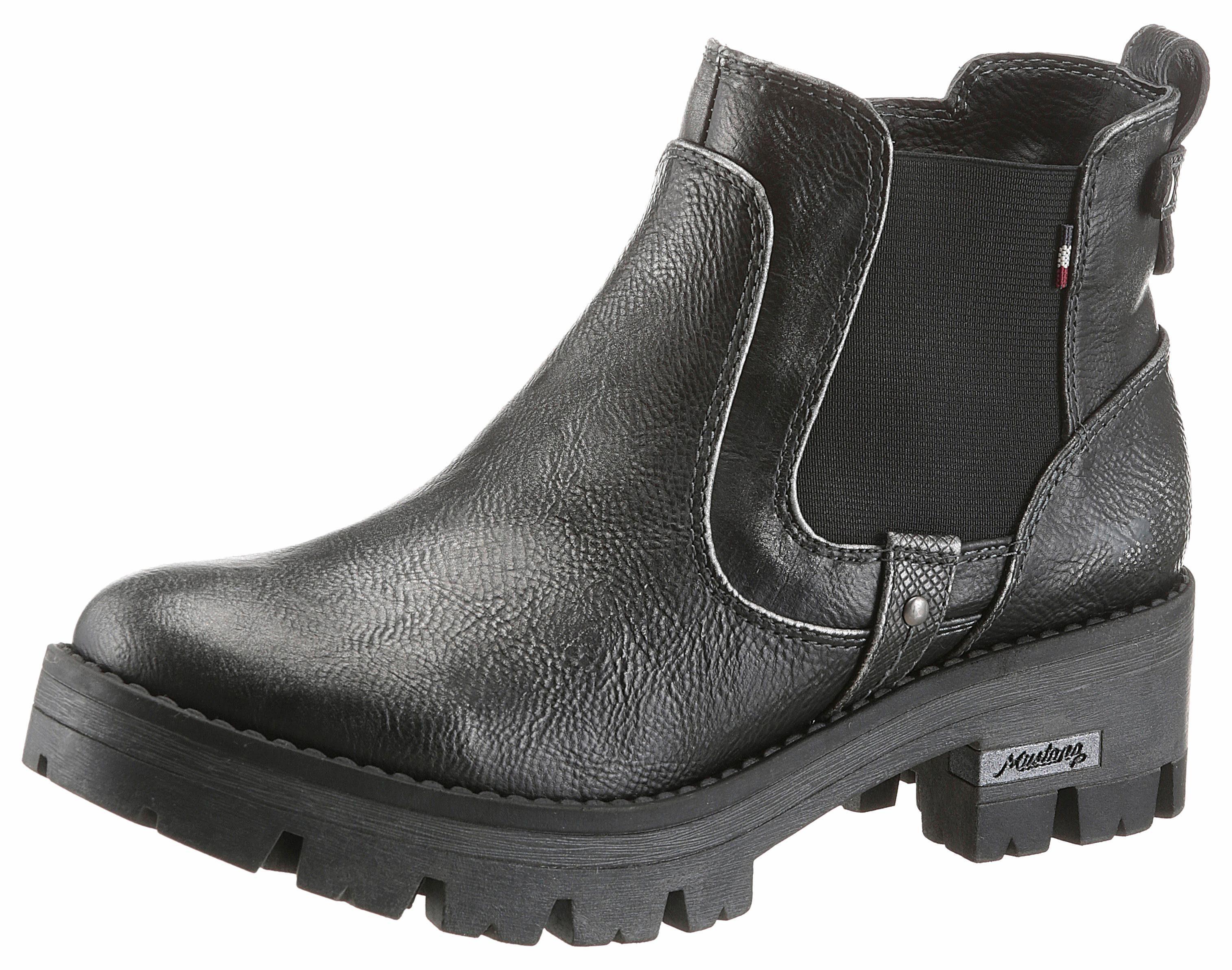 Mustang Shoes Chelseaboots, mit Stretcheinsatz  dunkelgrau