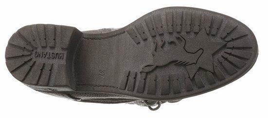 Mustang Shoes Schnürstiefel, in modischer Patchworkoptik